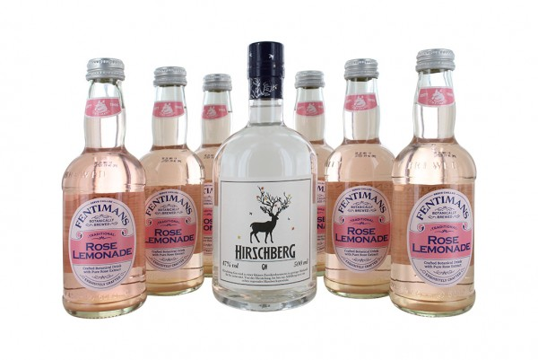 Hirschberg 0,5L + 6x Fentimans Rose Lemonade 0,275L