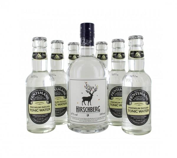 Hirschberg Gin 0,5L + 6x Fentimans Tonic 0,2L